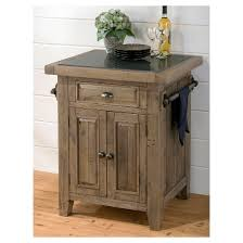Slater Mill Small Kitchen Island With Granite Top Wood/Reclaimed Pine    Jofran Inc.