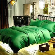 dark forest green bedding emerald duvet cover linen set cotton sateen woven fabric bed queen bedspread king b