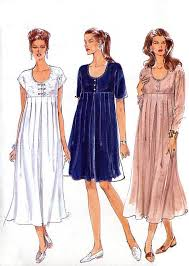 Maternity Dress Patterns Adorable Empire Waist Maternity Dress Pattern Vogue 48 A Line Or Flared