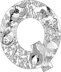 Small Picture Letter Q with Animals coloring page Free Printable Coloring Pages
