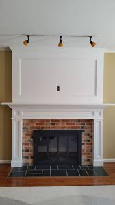Features removable recessed panels in legs & breastplate for cabling to  flat screen  Fireplace MantelsMantlesFireplacesFlat ...