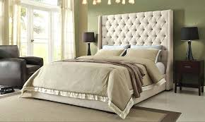 luxury bedroom ideas with super comfy tall upholstered bed and tufted headboard modern rug plus king67
