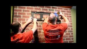 how to hang a flat panel tv on a brick fireplace