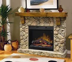 dimplex fieldstone pine stone look electric fireplace mantel
