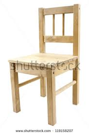simple wooden chair. simple wooden chair isolated on white background n