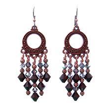 garnet red chandelier earrings