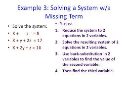 example 3 solving a system w a missing term