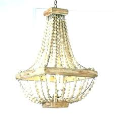 how to make beaded chandelier white wood bead large proje