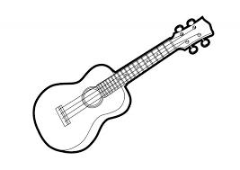 Ukulele Outline Vector Illustration Httpsuperawesomevectorscom