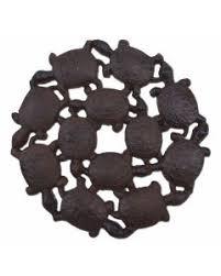 decorative garden stepping stones. Decorative Baby Turtles Stepping Stone - Rust Brown Cast Iron 10.25\ Garden Stones R