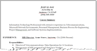 mis manager resume results of our resume make over techrepublic