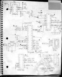 I didn't capture the schematic in eagle but i did take photos of my notebook and adjusted the contrast until they are semi legible