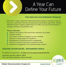 ptcl internship program for fresh graduates and diploma holders  ptcl internship program for fresh graduates and diploma holders live news