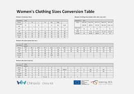 Mens Womens Shirt Size Conversion Chart Nils Stucki