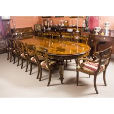 bespoke 12ft handmade burr walnut marquetry dining table 12 chairs
