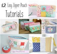 12 zipper bags tutorial free sewing pattern diy patchwork zipper bag make