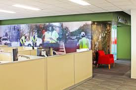 office wall murals. The Murals Were Installed On Outside Of Office \ Wall M
