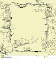 pages menu template template for restaurant menu stock vector illustration of fruit