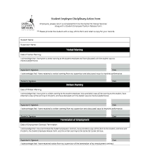 Employee Disciplinary Action Notice Of Form Free