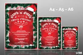 xmas bundle christmas menus invitations tds psd flyer christmas invitation template psd v 6