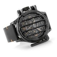 mens vintage chronograph watches new mens invicta 20256 reserve vintage cross bar leather strap watch