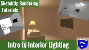 Internal Lighting System Rendering In Sketchup Intro To Interior Lighting