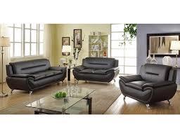 mina modern black leather sofa set jpg