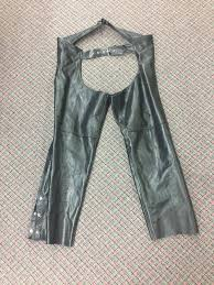 interstate leather motorcycle chaps size l