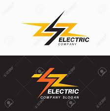 Set Of Templates Of Electric Logos Emblems Signs For The Power