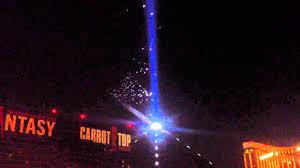 Bats Flying Thru Luxor Light In Las Vegas
