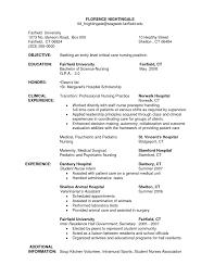 Example Of Nurse Resume Resume Template Ideas