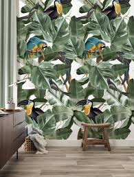 Behang Botanical Birds Wit 974 X 280 Cm Kek Amsterdam