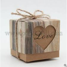 whole vine kraft paper candy bo hollow heart gift box retro wedding candy holder bags party decorations with hemp rope burlywood
