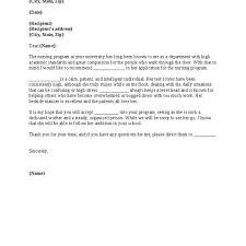 Nursing School Recommendation Letter 5 Resume Layout
