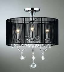 chandeliers chrome crystal chandelier lighting aubree 3 lights black and chrome semi flush mount crystal