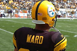 hines ward wearing the steelers 75th anniversary uniform in 2007