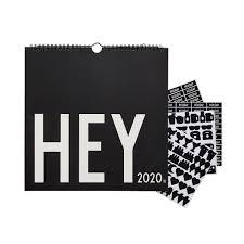 Design Letters Wall Calendar 2020 30 X 30 Cm Black