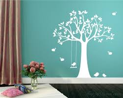 swinging birds vinyl tree art stickers