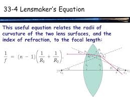 chapter 33 lenses and optical instruments the thin lens equation
