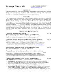 Educator Sample Resumes Sample Instructor Resume Therpgmovie 62