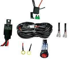 amazon com cutequeen wiring harness kit 40 amp relay on off Wiring LED Lights at Amazon Led Wiring Harness