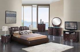 Modern Leather Bedroom Sets White Leather Bedroom Set Luca Home White Leather Upholstered