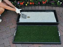 remove clumped litter with scoop dog potty area for patio diy patio potty for dogs