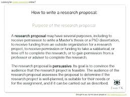 How To Develop A Research Proposal Simple Quantitative Research Proposal Template Baniocha