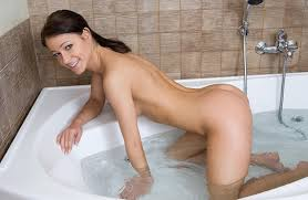 Naked girls in the bathroom