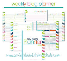 Weekly Calendars To Print 2015 2015 Weekly Blog Planner Free Confessions Of A Homeschooler