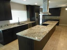 Granite Kitchen And Bath Espresso Brown Shaker Cabinets With Juparana Delicates Granite