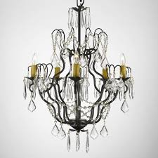 wrought iron crystal chandelier chandeliers lighting h27 x w21 w chain and wire
