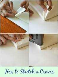 diy art tutorial on how to stretch a rolled canvas painting