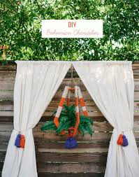 diy bohemian chandelier for your wedding